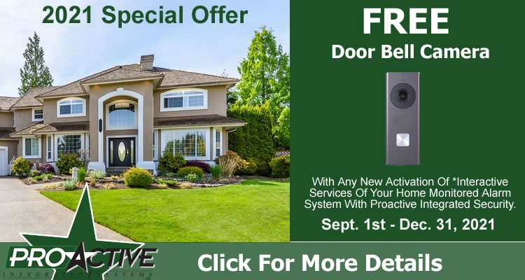 Doorbell Camera Special Offer With New Alarm Activations